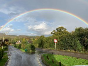 Newtown Linford Rainbow of Hopw taken by Michael Upstone on Groby Lane in October 2020